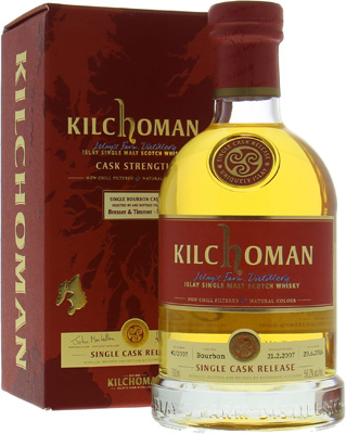 9 Years Old Cask 42/2007 For Bresser & Timmer 56.2%Kilchoman -