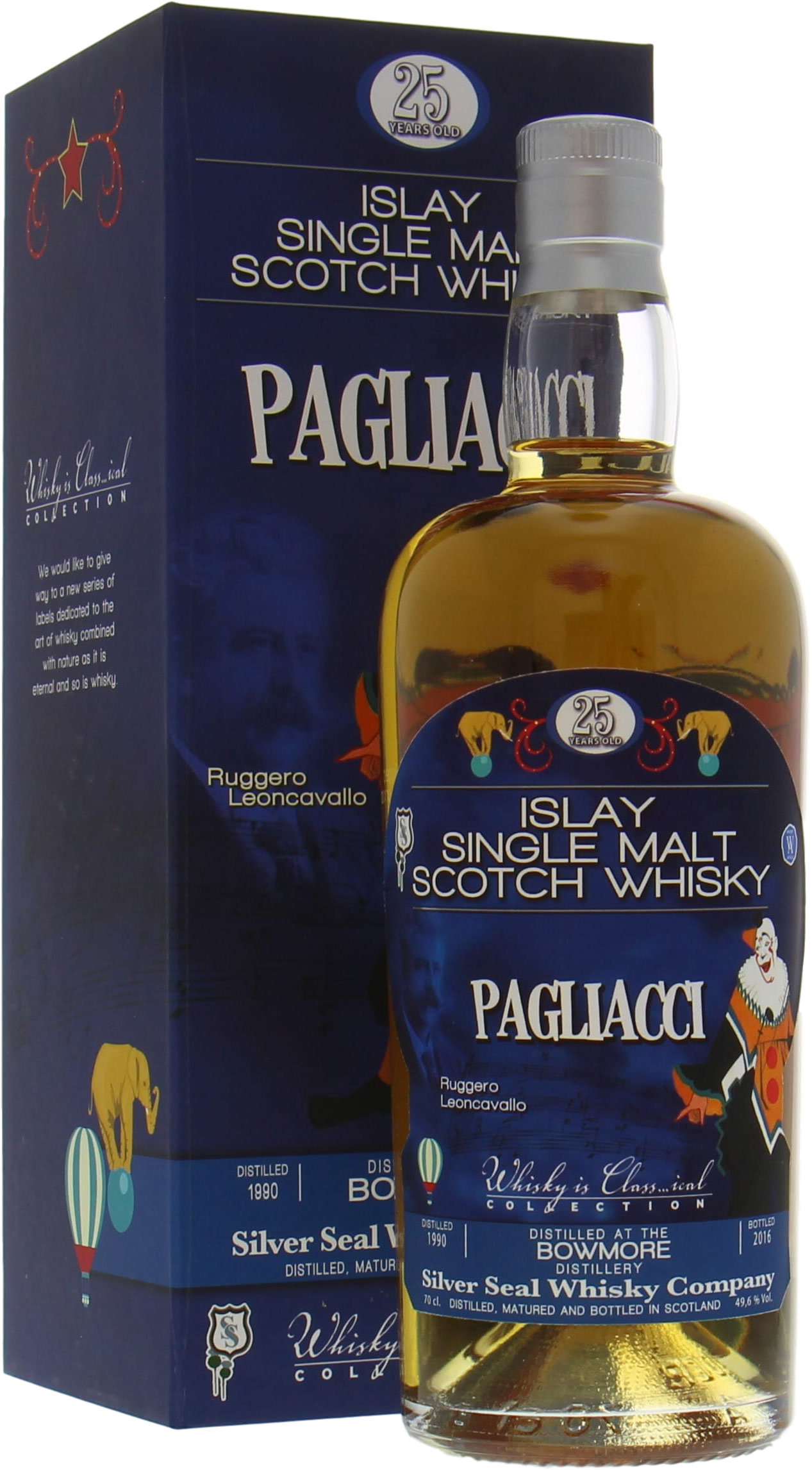 Bowmore - 25 Years Silver Seal Ruggero Leoncavallo Pagliacci 49.6%