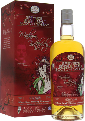 20 Years Silver Seal Giacomo Puccini Madama Butterfly Cask:67 51.9%Glen Elgin -