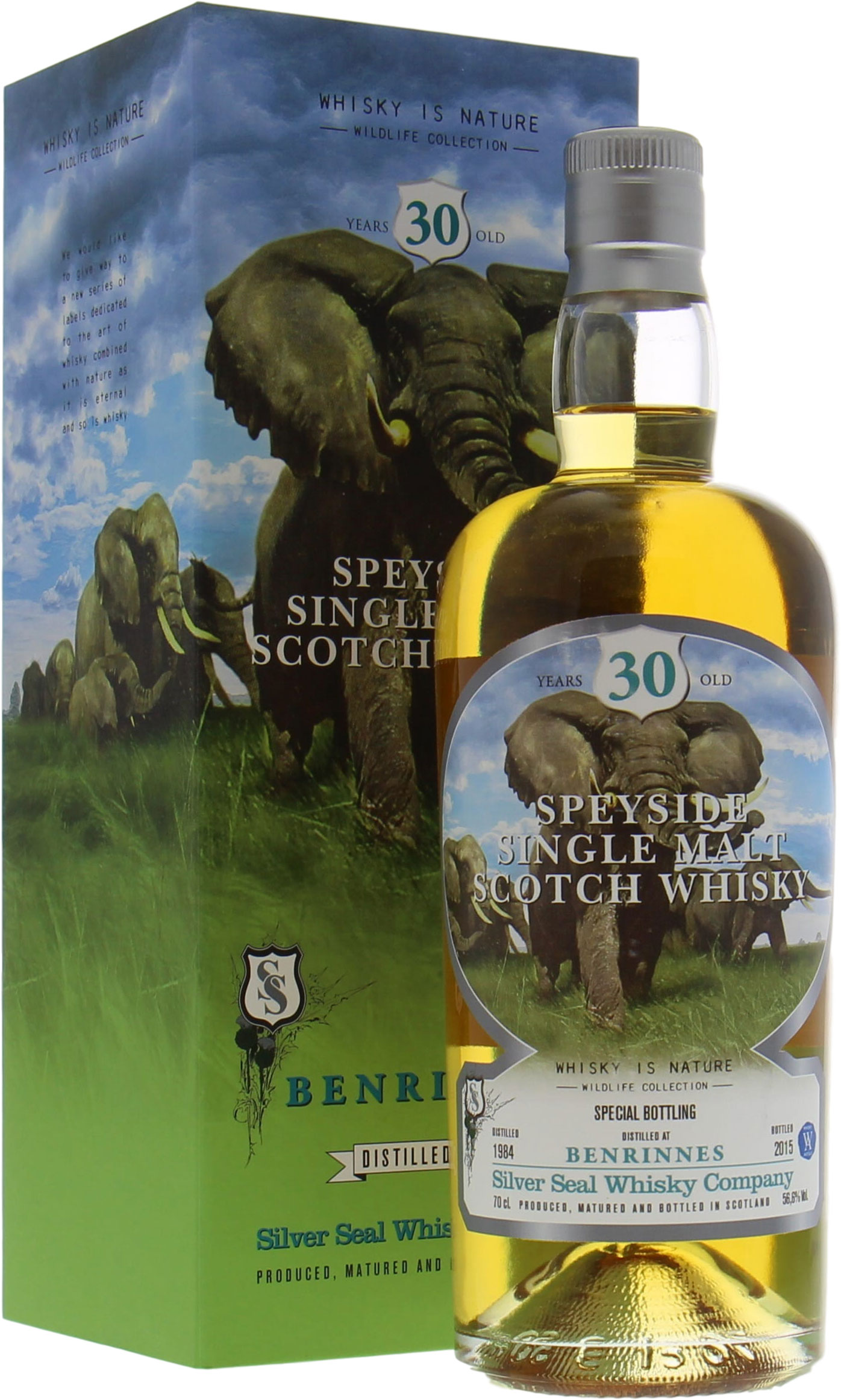 Benrinnes - 30 Years Old Silver Seal Wildlife Collection Cask 2268 56.6%