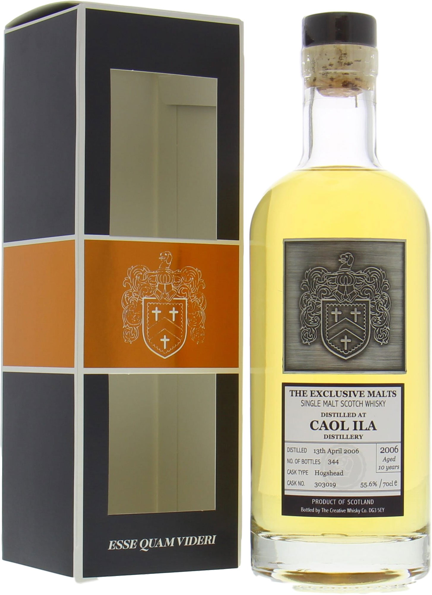 Caol Ila - 10 Years Old The Creative Whisky Company Cask:303019 55.6% 2006