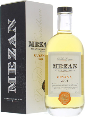 Mezan - Guyana 2005 Single Distillery Rum 40% 2005