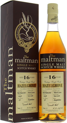 16 Years Old Hazelgrove The Maltman Cask 11078 47.1%Hazelburn -