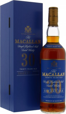 Macallan - 30 Years Old Sherry Oak Blue Label 43% NV