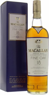 Macallan - 18 Years Old Fine Oak purple border 43% NV