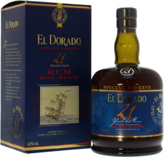 21 years old rum 43 %