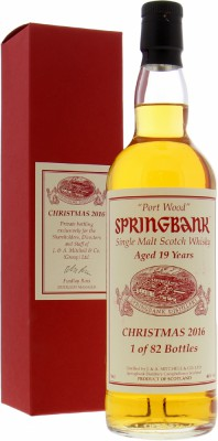 Springbank - 19 Years Old Christmas 2016 46% NV
