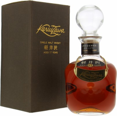 17 Years Old Crystal Decanter 40%Karuizawa -