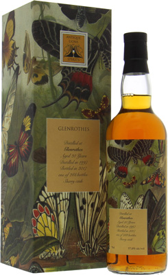 20 Years Old Antique Lions of Spirits The Butterflies 57%Glenrothes -