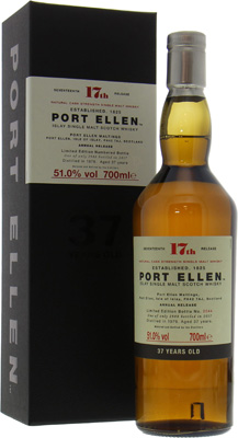 17th Annual Release 37 Years Old 51%Port Ellen -