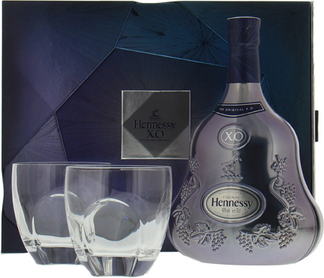 Hennessy - XO Limited Edition Experience coffret with 2 glasses (release 2017) NV