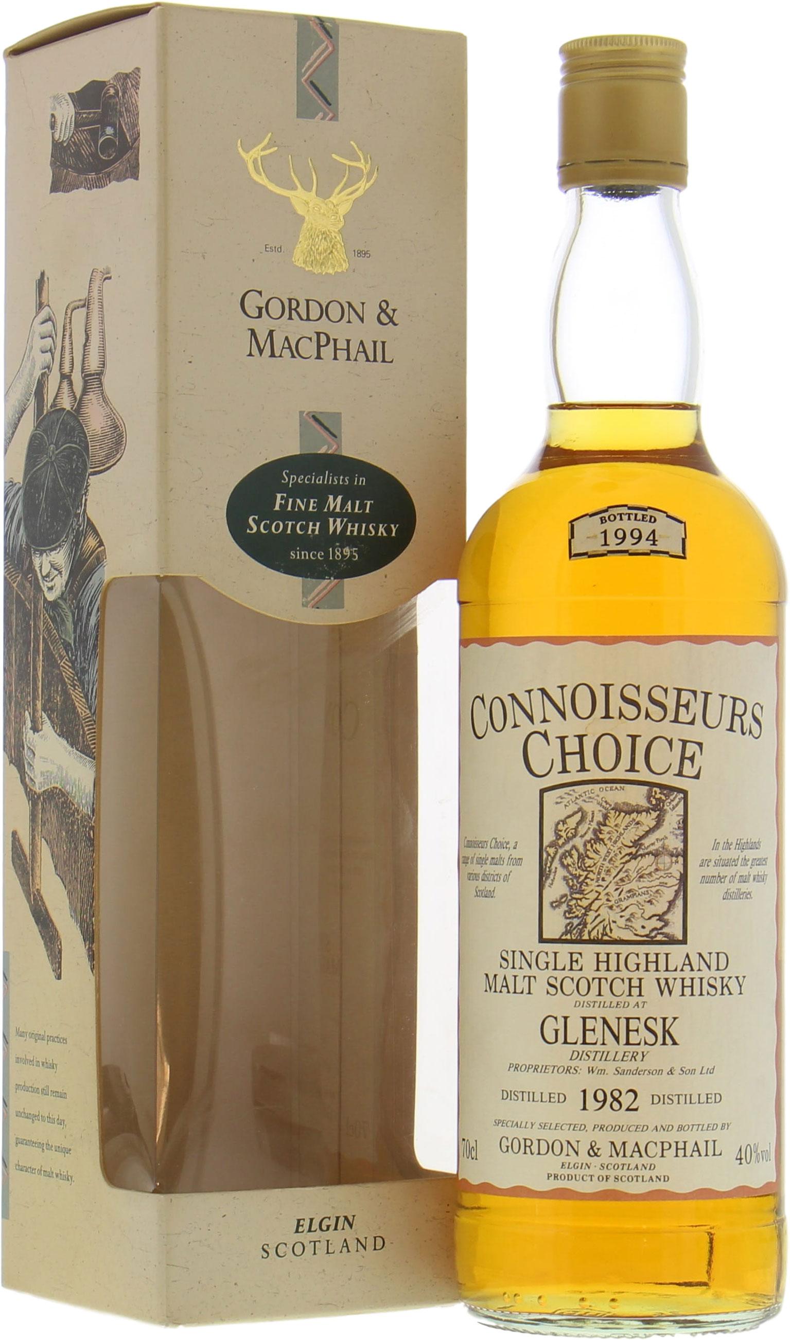 Glenesk 1982 Connoisseurs Choice Old Map Label 40% 1982