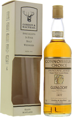 Glenlochy - 1977 Connoisseurs Choice Map Label 40% 1977