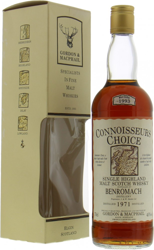 Benromach - 1971 Connoisseurs Choice Old Map Label 40% 1971