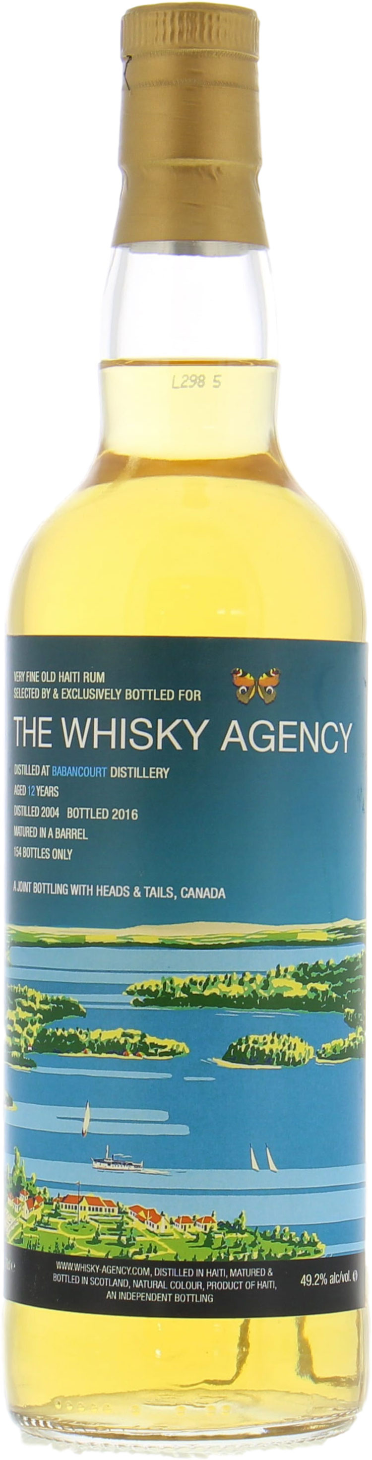 Image of Barbancourt The whisky Agency 12 Years Old 49.2%