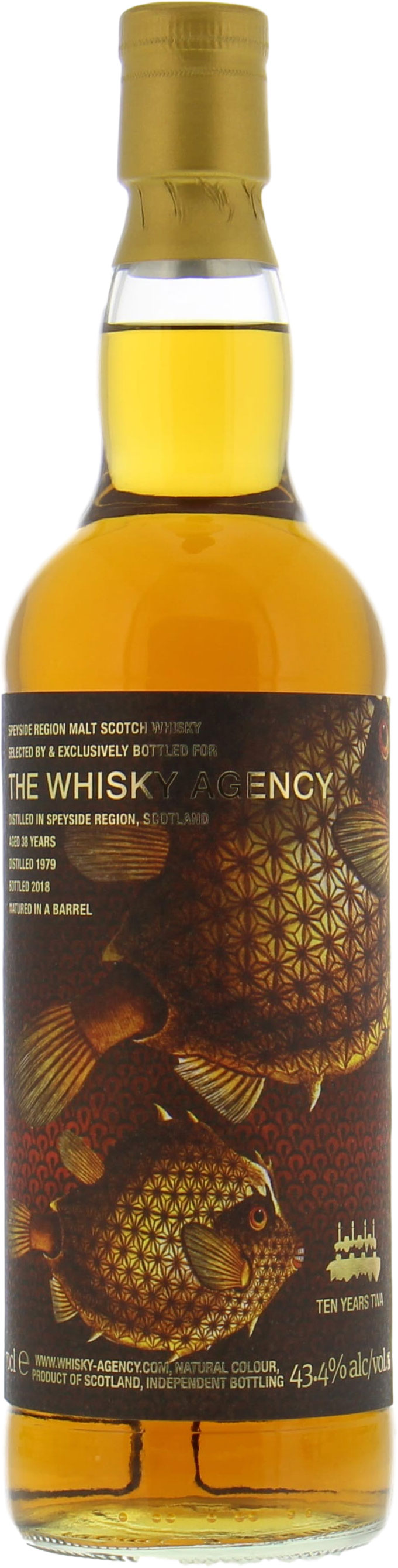 The Whisky Agency - 38 Years Speyside Region Ten Years TWA 43.4%