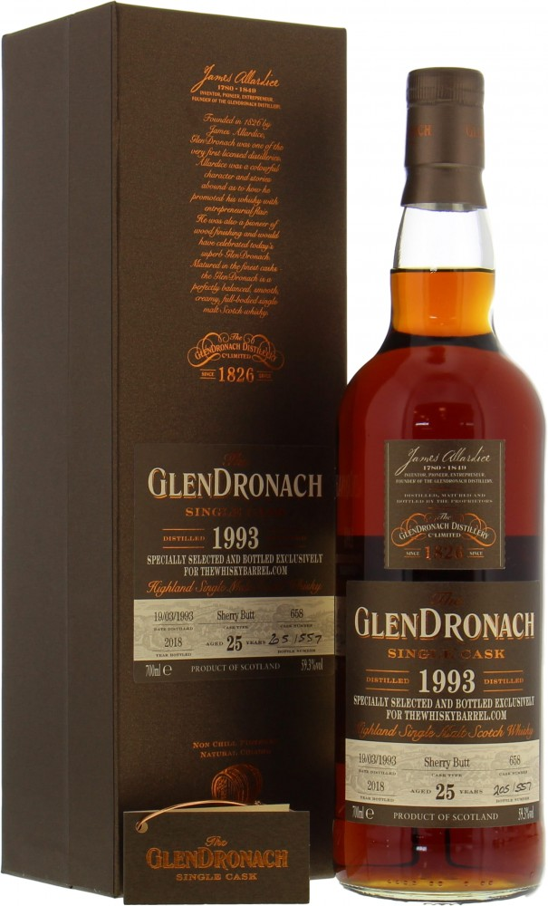 Glendronach - 25 Years Old The Whisky Barrel Exclusive Cask 658 59.3% 1993