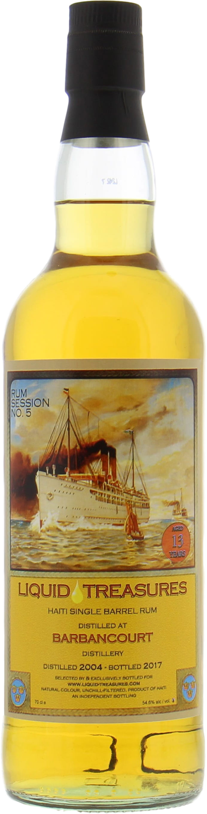 Barbancourt - 13 Years Old Liquid Treasures Rum Session 5 54.6 2004