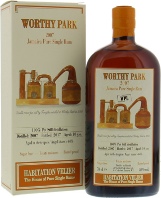 Worthy Park - 10 Years Old Habitation Velier 59% 2006