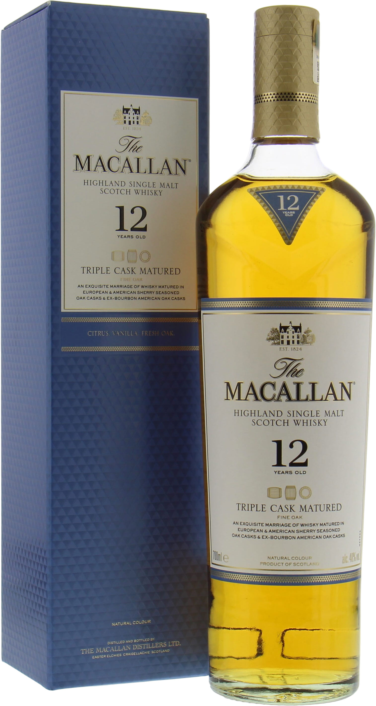 Macallan - 12 Years Old Fine Oak Triple Cask Matured 40%