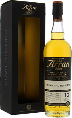 Arran - 10 Year Old Young And Restless Cask 2007/587 58% 2007
