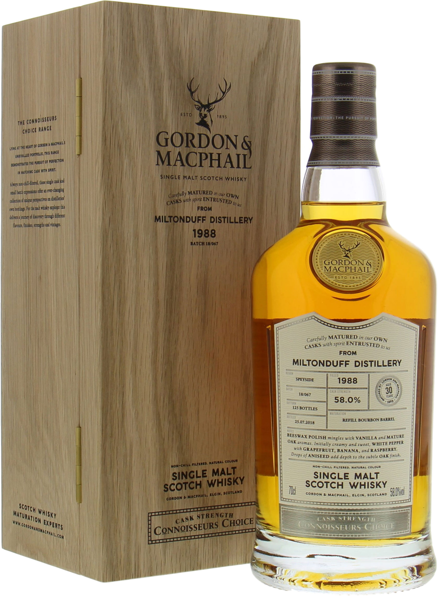 Miltonduff - 30 Years Old Connoisseurs Choice Cask Strength Batch 18/067 58% 1988