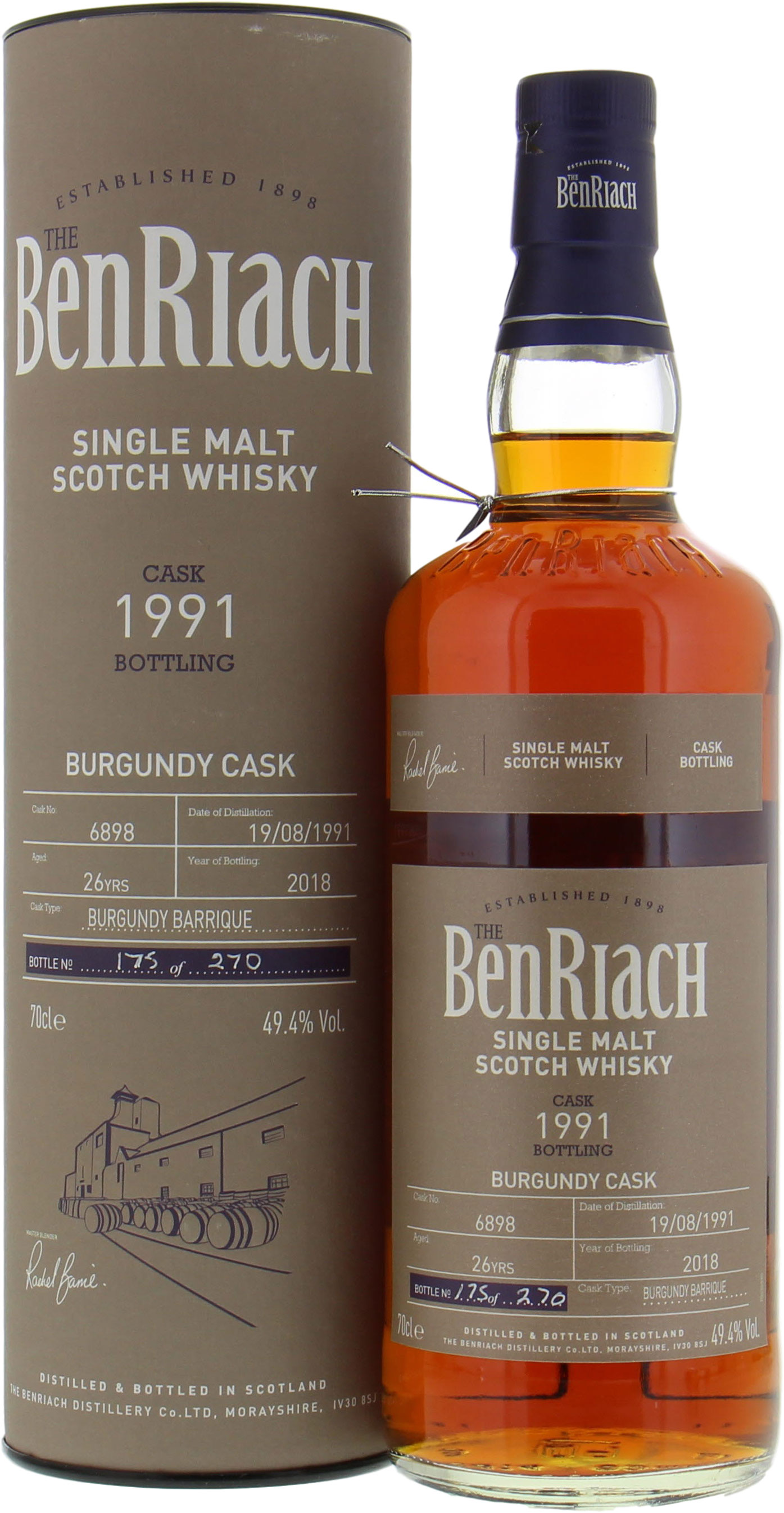 BenRiach - 26 Years Old Batch 15 Single Cask 6898 49.4% 1991