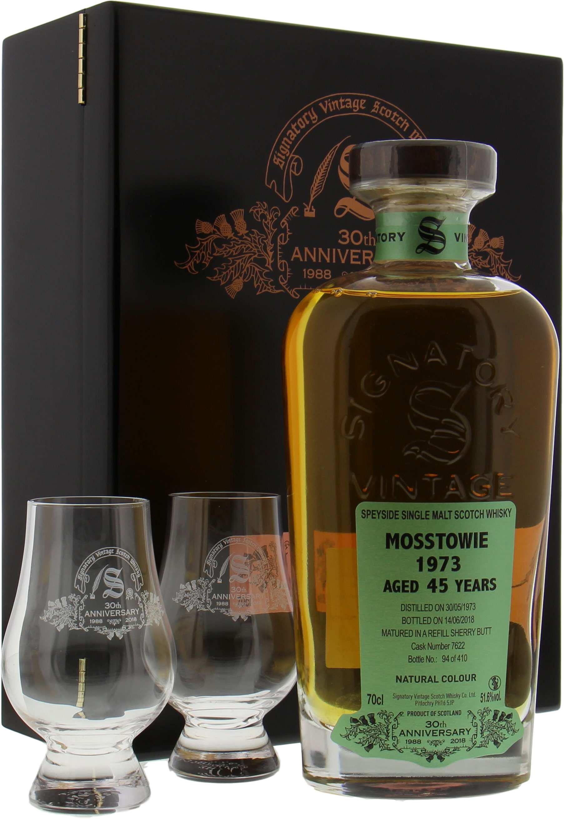 Mosstowie - 45 Years Old Signatory 30th Anniversary Cask 7622 51.6% 1973