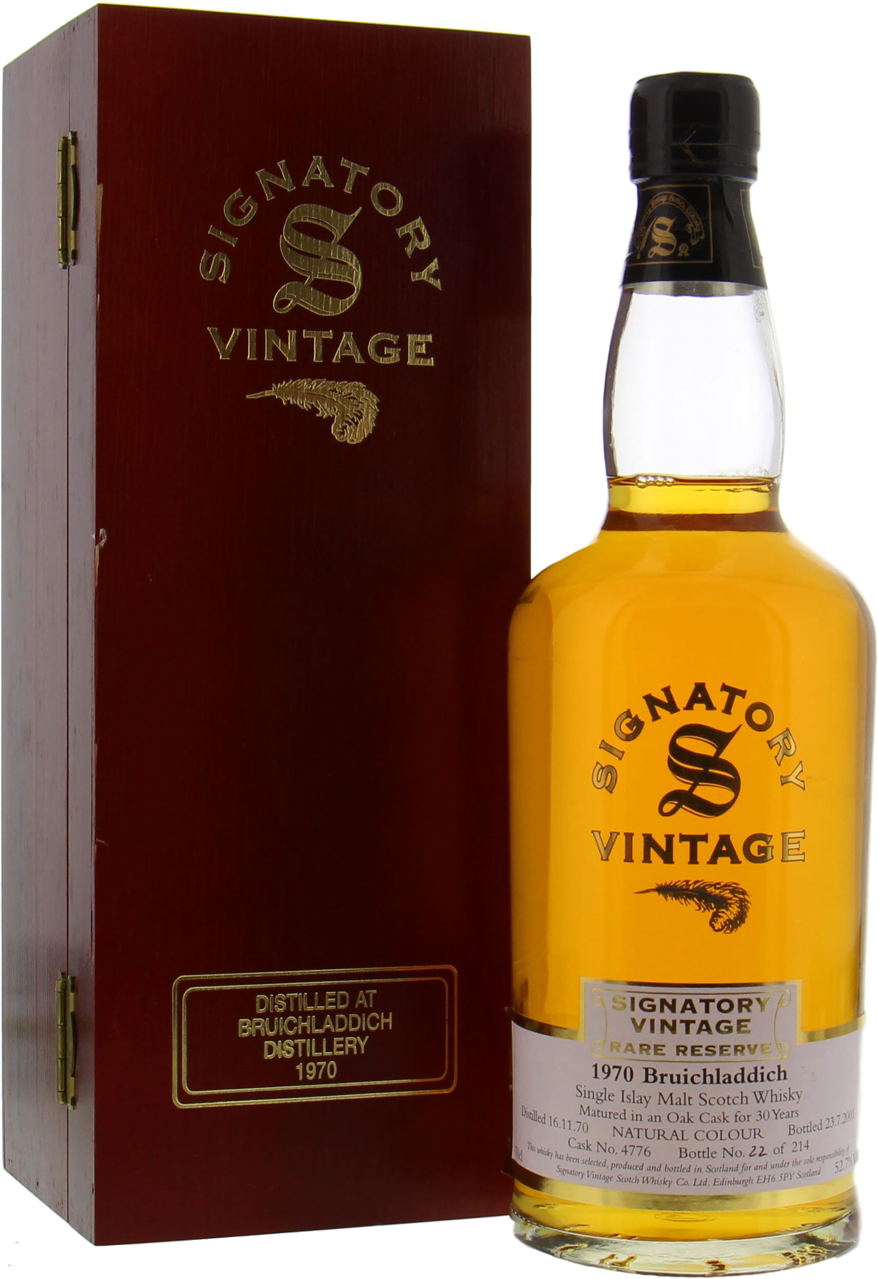 Bruichladdich  - 30 Years Old Signatory Vintage Rare Reserve Cask 4776 52.7% 1970