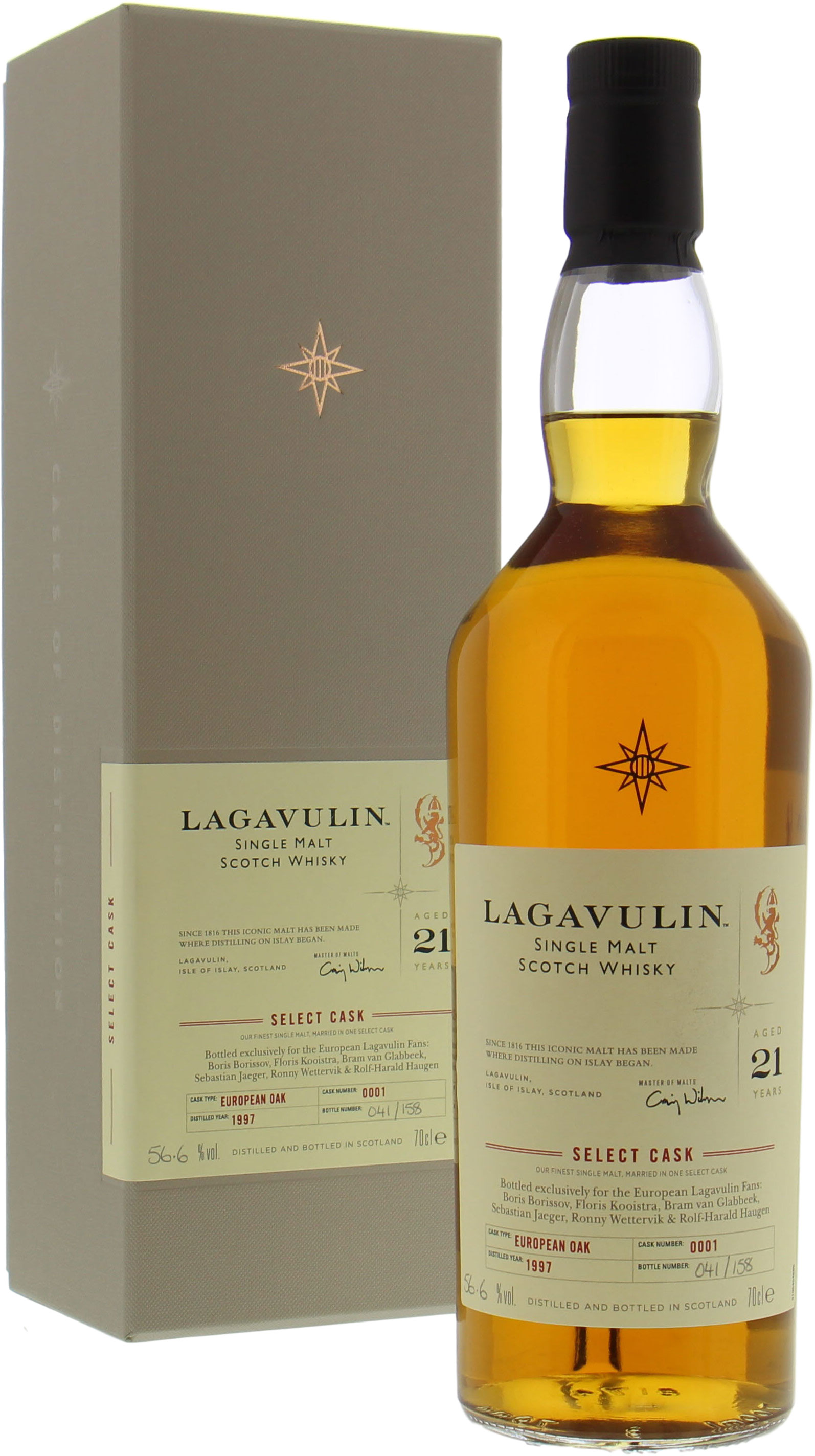 Lagavulin - 21 Years Old for European Lagavulin Fans (WhiskyNerds) Cask 0001 56.6% 1997