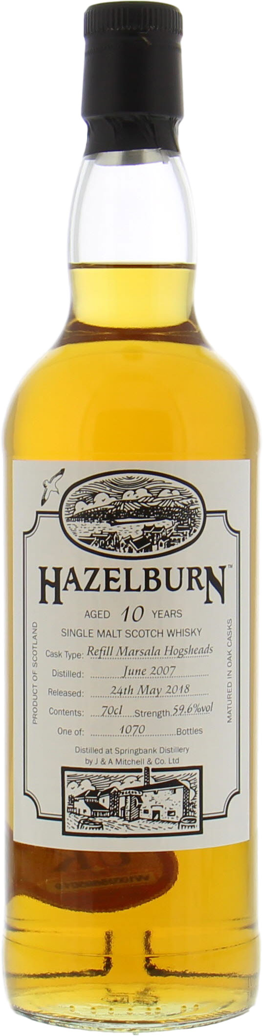 Hazelburn - 10 Years Old Open Day 2018 59.6%