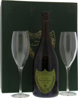 Dom Perignon case with glasses