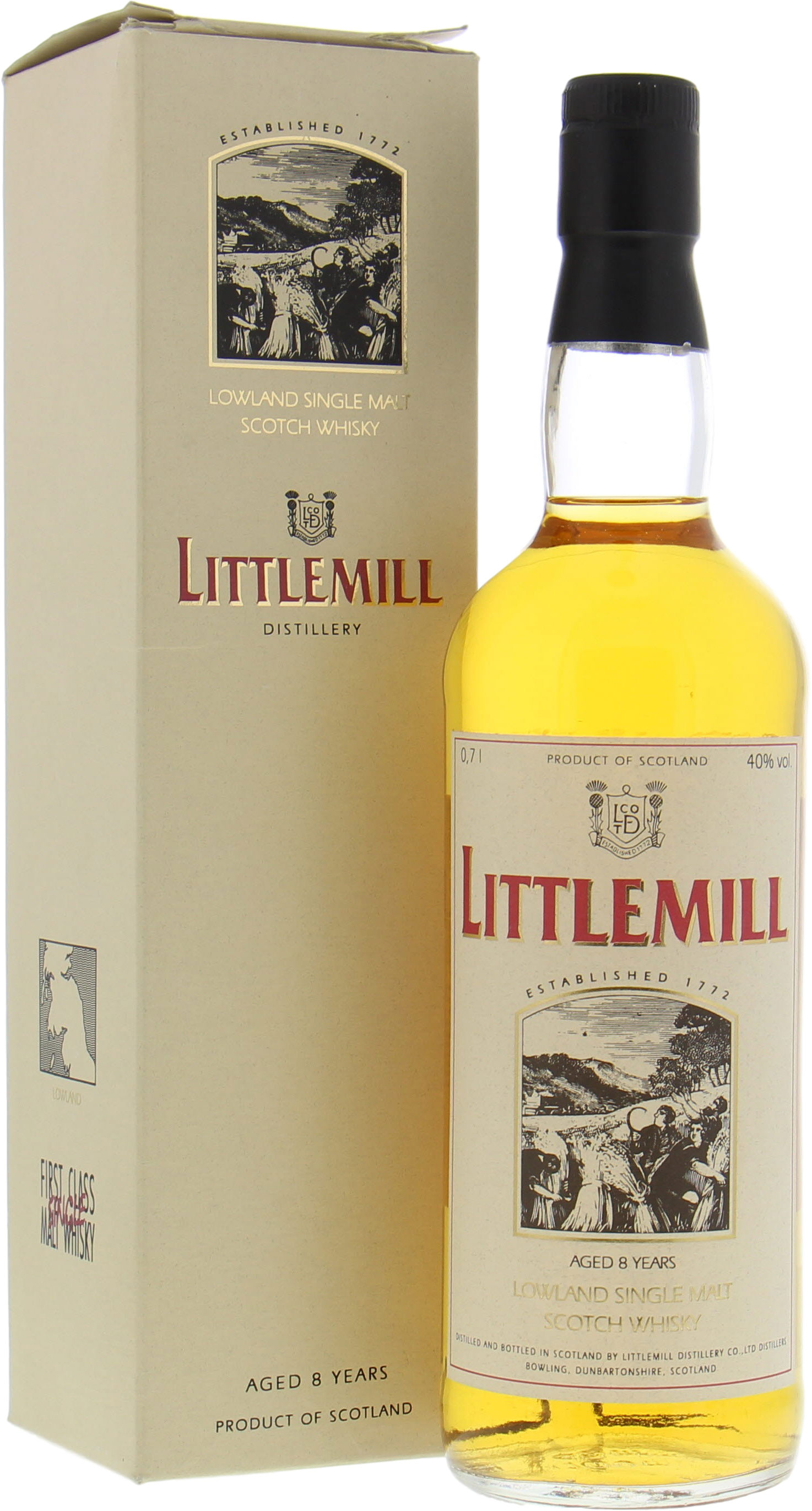 Littlemill - 8 Years Old 40% NV