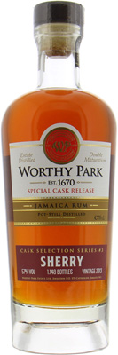 Worthy Park - Single Estate Sherry Cask Selection 57% 2013