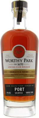 Worthy Park - Single Estate Port Cask Selection 56% 2008
