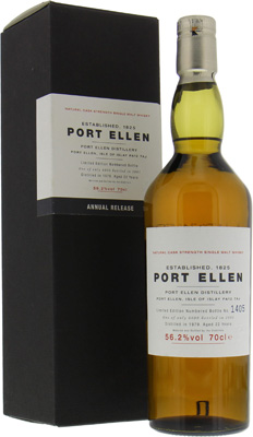 Port Ellen - 1st Release 22 years Old 56.2% 1979