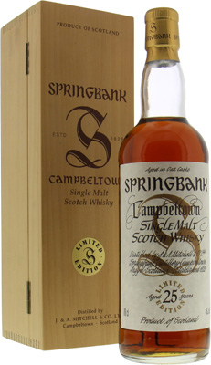 Springbank - 25 Years Old Millennium Bottling Limited Edition 46% NV