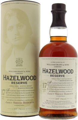 Hazelwood Reserve 17 Years Old 52.5%Kininvie -