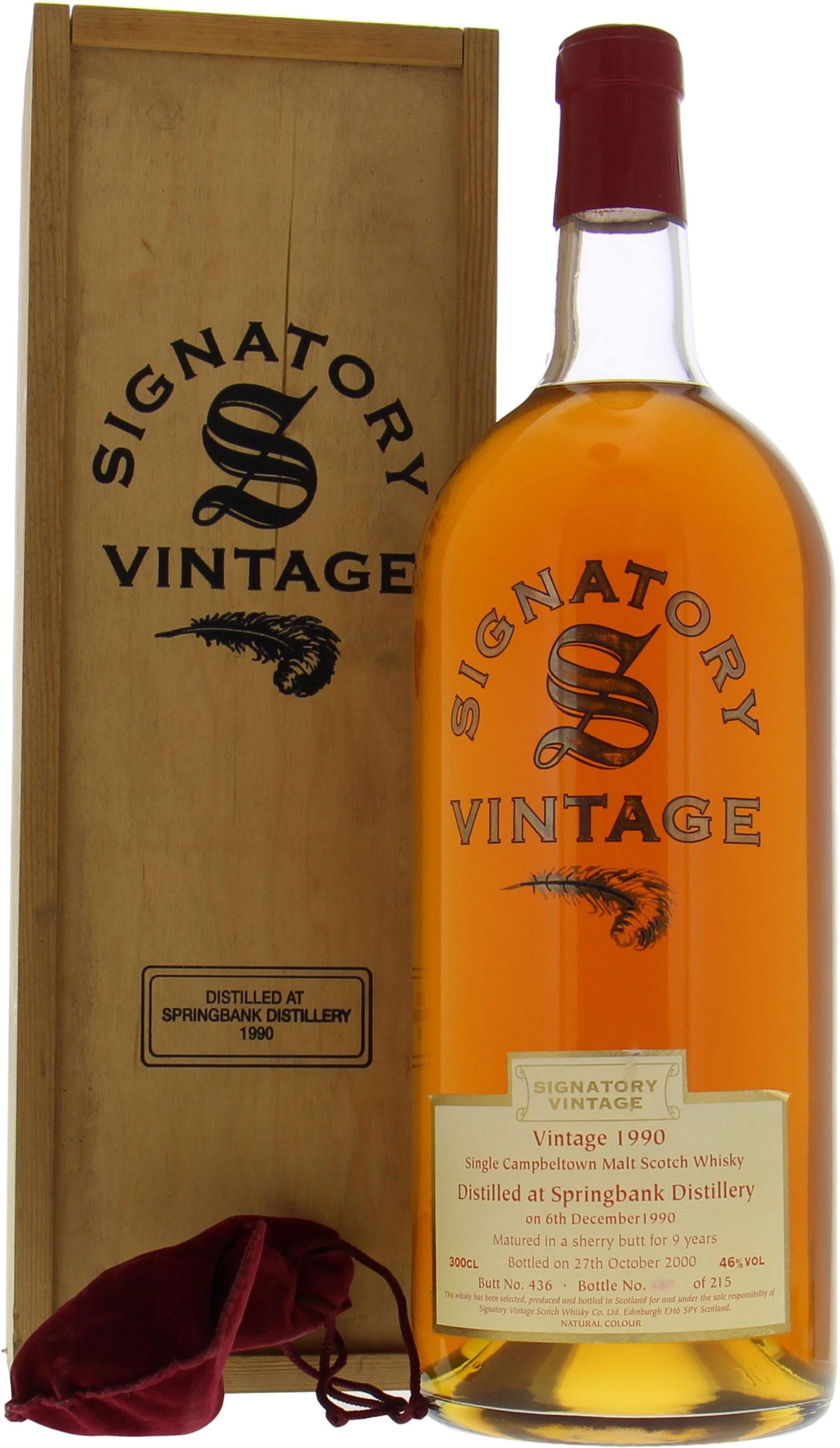 Springbank - 1990 Signatory Vintage Collection Cask 436 46%