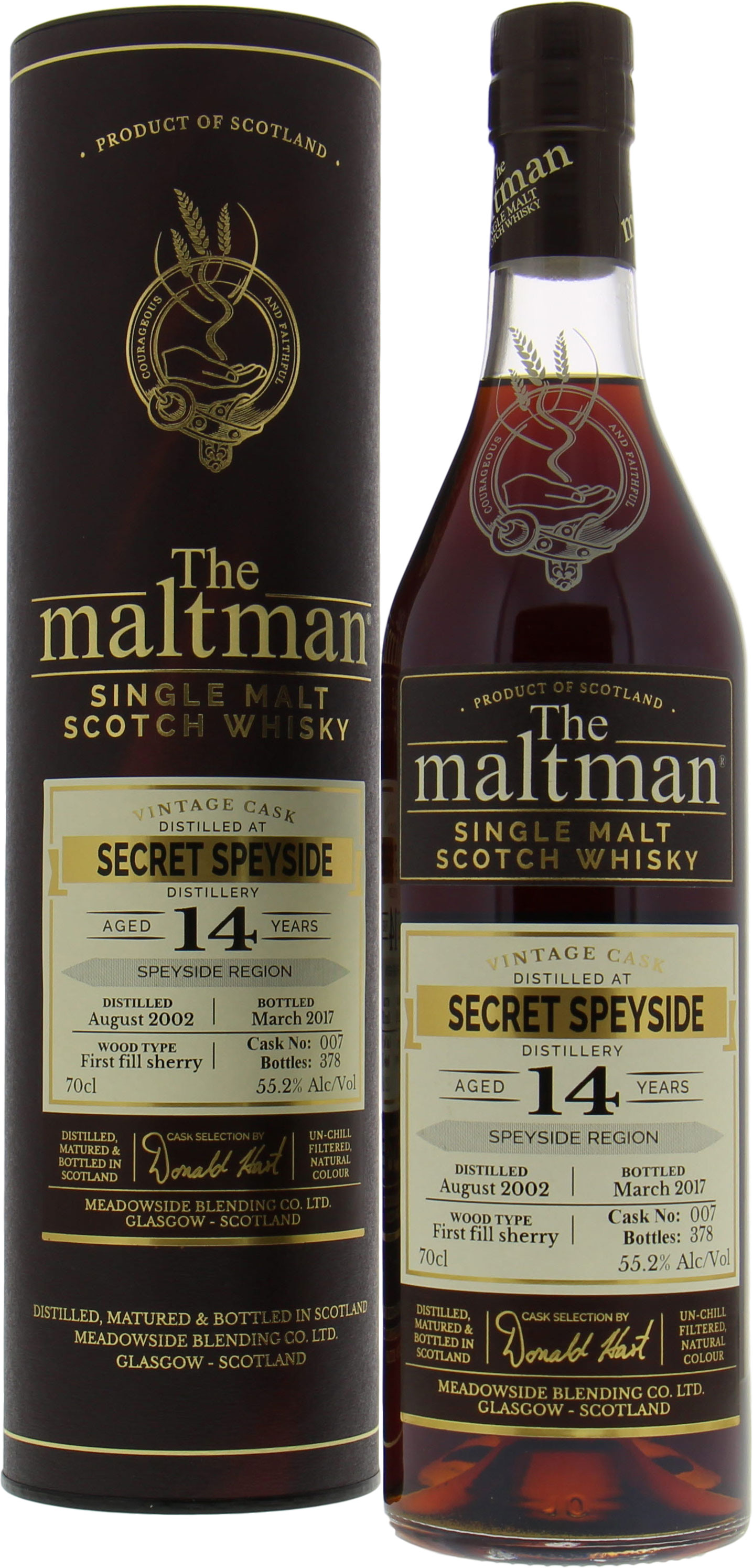 Speyside Region - Secret Speyside 14 Years Old The Maltman Cask 007 55.2% 2002