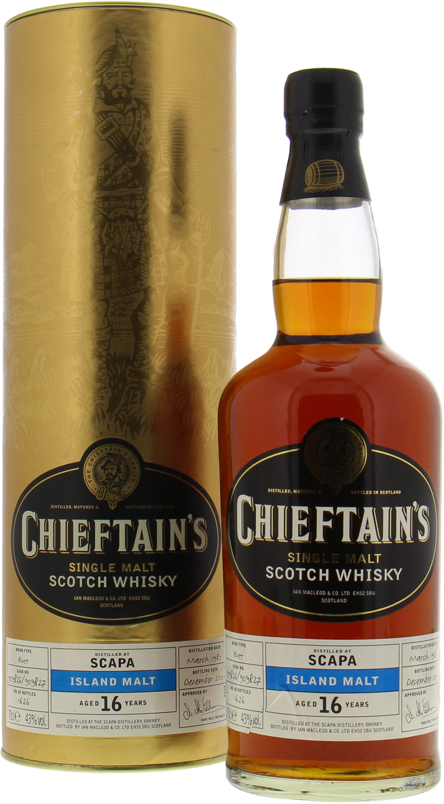 Scapa - 16 Years Old Chieftain's Choice Casks 909826 909827 43% 1985