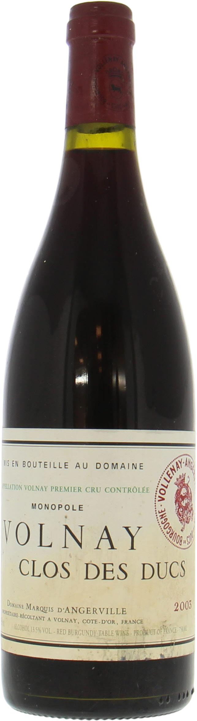 Volnay Clos Des Ducs 2003 Marquis D Angerville Buy Online Best Of Wines