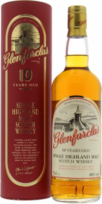 Glenfarclas - 10 Years Old white label golden capsule 40% NV