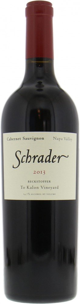 Schrader Cellars - Cabernet Sauvignon Beckstoffer to Kalon Vineyard 2013