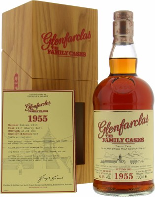 Glenfarclas - 57 Years Old The Family Casks Release A13 Cask 2217 43.3% 1955
