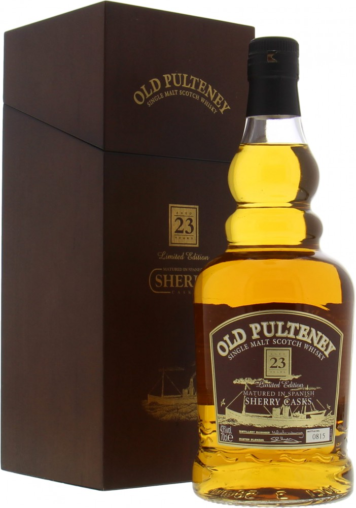 Old Pulteney - 23 Years Old Limited Edition Sherry Casks 43% NV