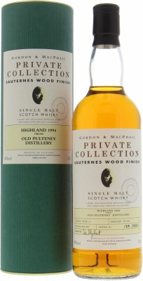 12 Years Old Gordon & MacPhail  Private Collection Cask 06/125 1-5 45% Old Pulteney -