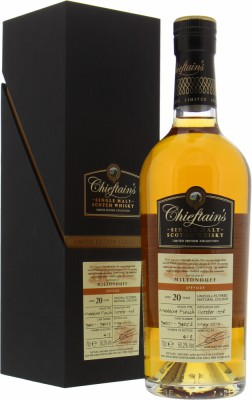 Miltonduff - 20 Years Old Chieftain's Cask 94051 and 94052 50.2% 1998