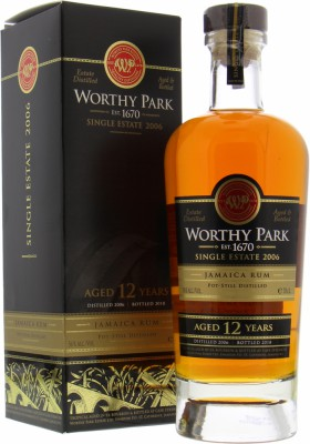 Worthy Park - 12 Years Old Single Estate 2006 56% 2006