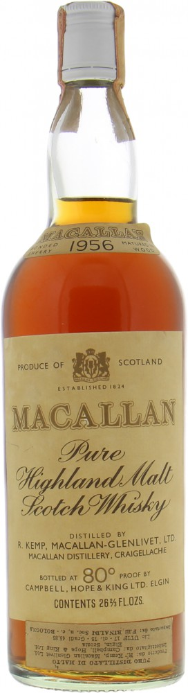 Macallan - 1956 Pure Highland Malt Scotch Whisky 45.85%